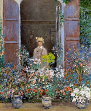 Camille Monet At The Window  Argentuile