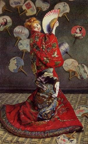 Claude Oscar Monet - Camille Monet In Japanese Costume
