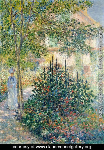 Claude Oscar Monet - Camille Monet In The Garden At The House In Argenteuil