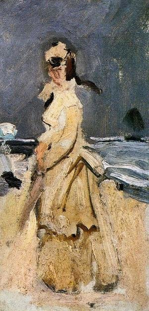 Claude Oscar Monet - Camille On The Beach