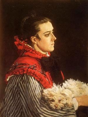Claude Oscar Monet - Camille With A Small Dog