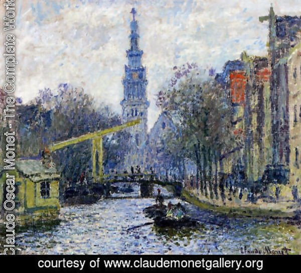 Claude Oscar Monet - Canal In Amsterdam
