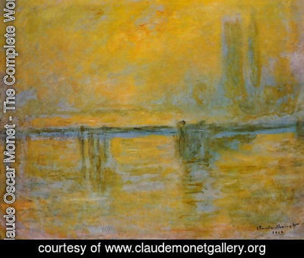 Claude Oscar Monet - Charing Cross Bridge  Fog