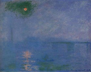 Claude Oscar Monet - Charing Cross Bridge  Fog On The Themes