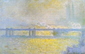 Claude Oscar Monet - Charing Cross Bridge  Overcast Weather