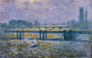 Claude Oscar Monet - Charing Cross Bridge  Reflections On The Thames