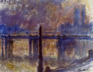 Claude Oscar Monet - Cleopatras Needle And Charing Cross Bridge