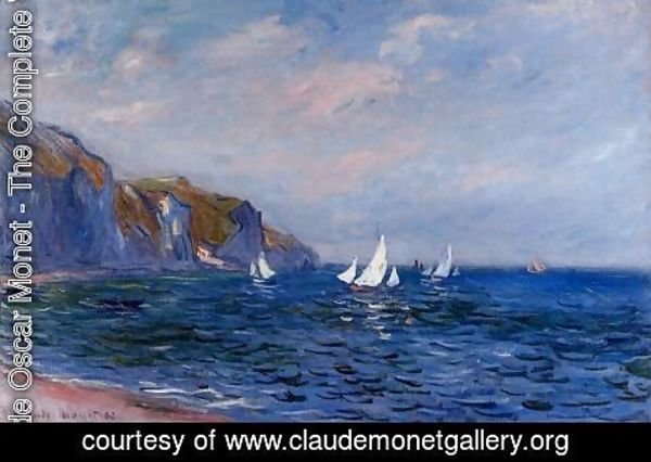 Claude Oscar Monet - Cliffs And Sailboats At POurville