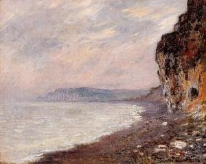 Cliffs At Pourville In The Fog