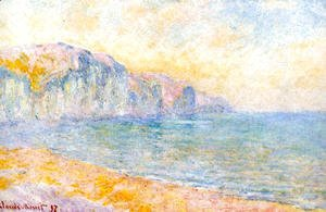 Claude Oscar Monet - Cliffs At Pourville  Morning