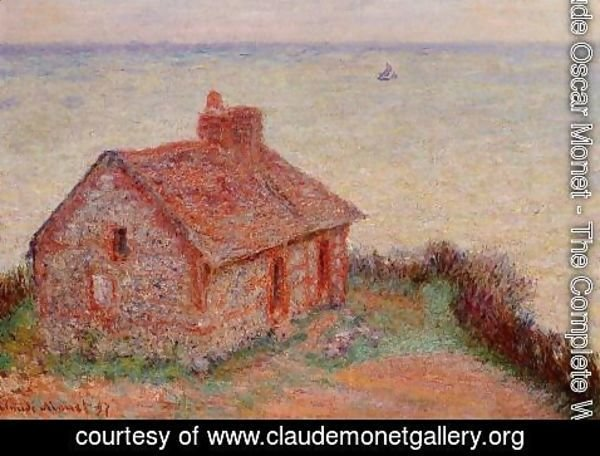 Claude Oscar Monet - Customs House  Rose Effect