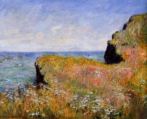 Claude Oscar Monet - Edge Of The Cliff  At Pourville