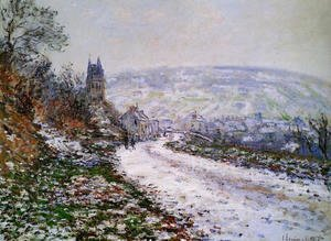 Claude Oscar Monet - Entering The Village Of Vetheuil In Winter