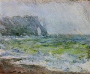 Claude Oscar Monet - Etretat In The Rain