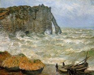 Claude Oscar Monet - Etretat  Rough Sea
