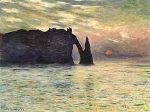 Claude Oscar Monet - Etretat  Sunset