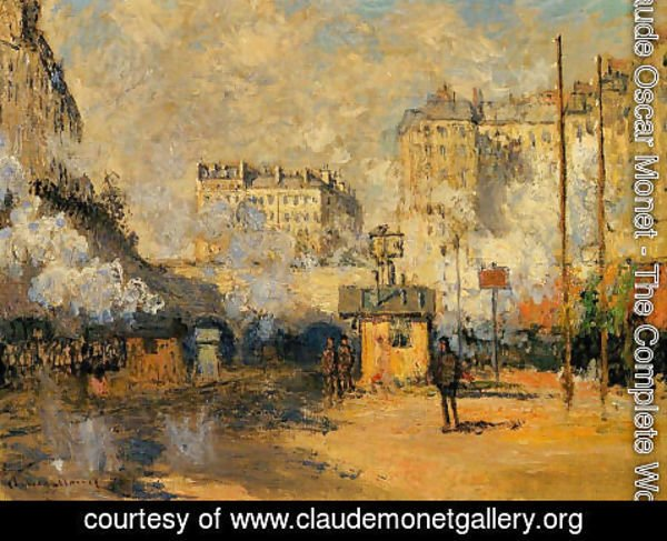 Claude Oscar Monet - Exterior Of Saint Lazare Station  Sunlight Effect