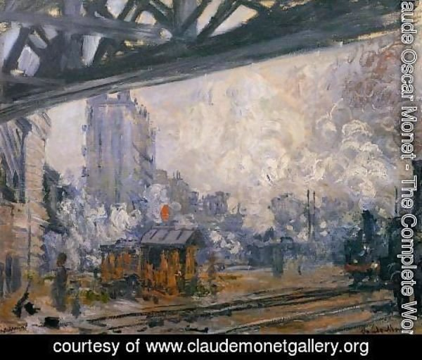 Claude Oscar Monet - Exterior View Of The Saint Lazare Station