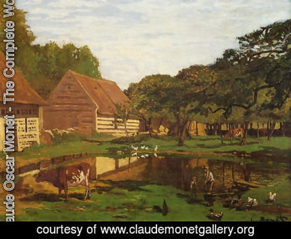 Claude Oscar Monet - Farmyard In Normandy