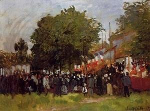 Claude Oscar Monet - Fete At Argenteuil