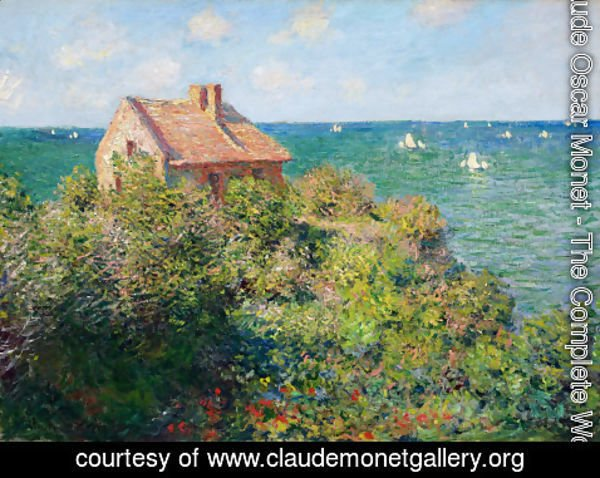 Claude Oscar Monet - Fishermans Cottage At Varengeville
