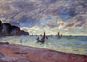 Claude Oscar Monet - Fishing Boats By The Beach And The Cliffs Of Pourville