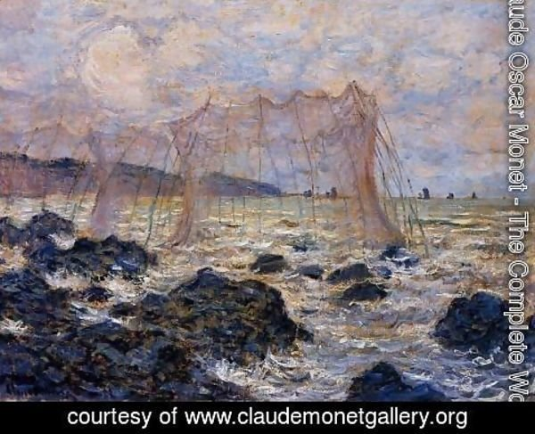 Claude Oscar Monet - Fishing Nets At Pourville