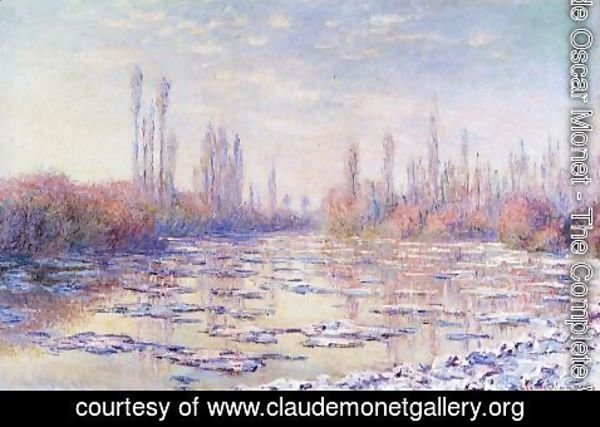 Claude Oscar Monet - Floating Ice