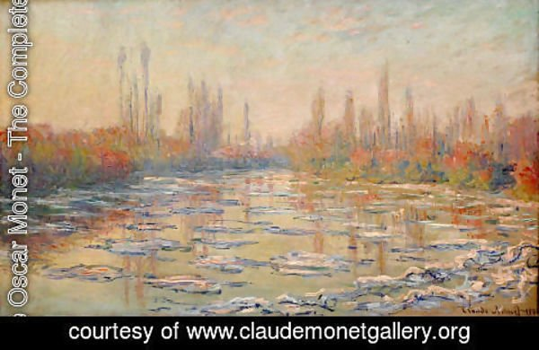 Claude Oscar Monet - Floating Ice2