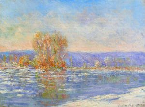 Claude Oscar Monet - Floating Ice Near Bennecourt
