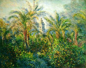 Claude Oscar Monet - Garden In Bordighera  Morning Effect