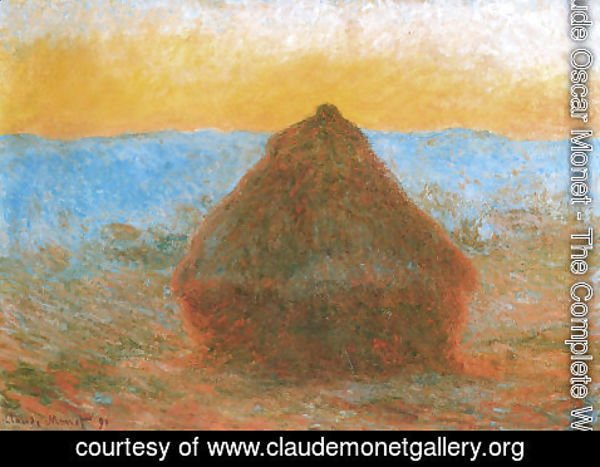 Claude Oscar Monet - Grainstack2