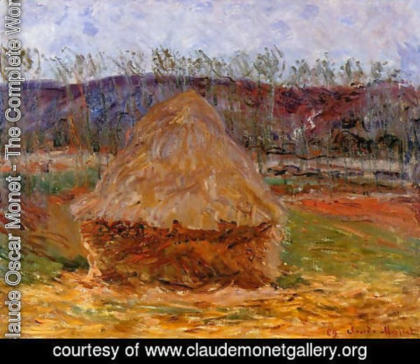 Claude Oscar Monet - Grainstack At Giverny
