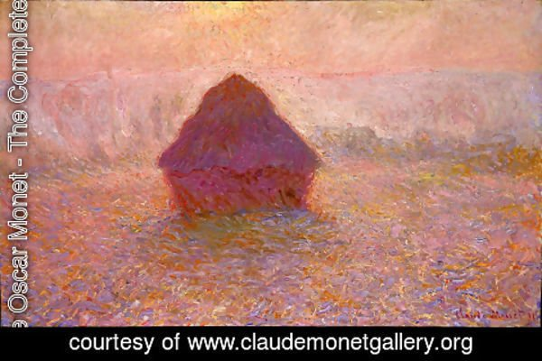 Claude Oscar Monet - Grainstack  Sun In The Mist