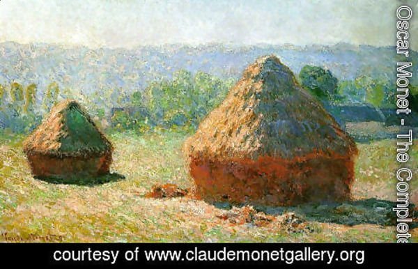 Claude Oscar Monet - Grainstacks At The End Of Summer  Morning Effect