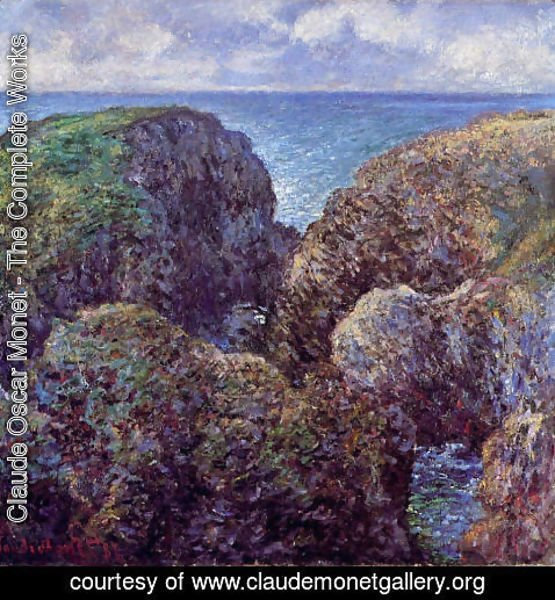 Claude Oscar Monet - Group Of Rocks At Port Goulphar