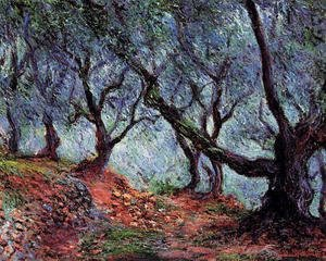 Claude Oscar Monet - Grove Of Olive Trees In Bordighera