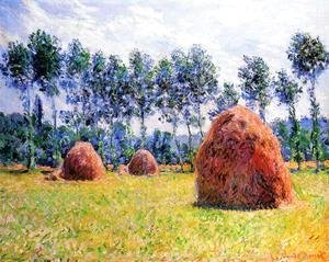 Claude Oscar Monet - Haystacks At Giverny3