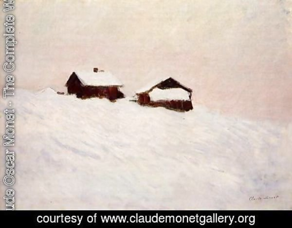 Claude Oscar Monet - Houses In The Snow  Norway