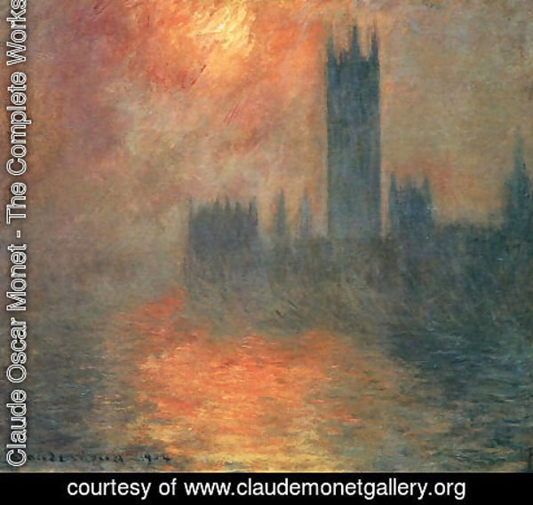 Claude Oscar Monet - Houses Of Parliament  Effect Of Sunlight In The Fog2