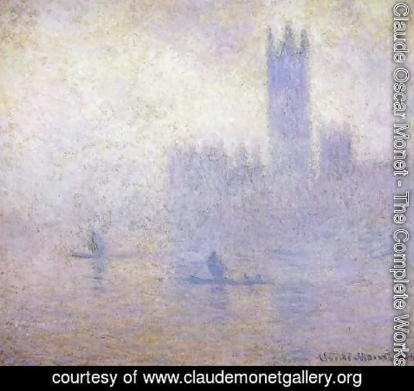 Claude Oscar Monet - Houses Of Parliament  Fog Effect