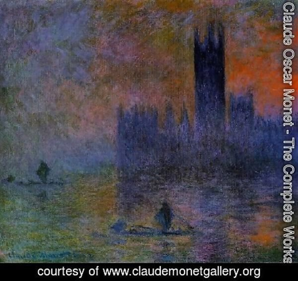 Claude Oscar Monet - Houses Of Parliament  Fog Effect2