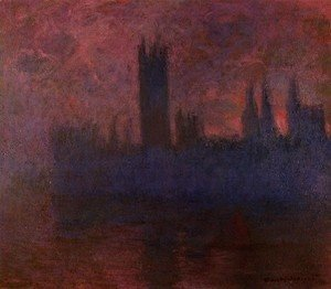 Claude Oscar Monet - Houses Of Parliament  London  Symphony In Rose