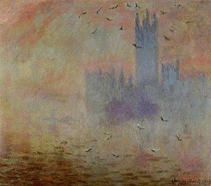 Claude Oscar Monet - Houses Of Parliament  Seagulls