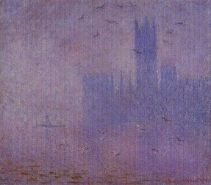 Claude Oscar Monet - Houses Of Parliament  Seagulls2