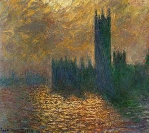 Claude Oscar Monet - Houses Of Parliament  Stormy Sky