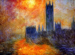 Claude Oscar Monet - Houses Of Parliament  Sunset