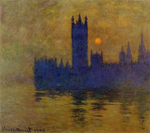 Claude Oscar Monet - Houses Of Parliament  Sunset2