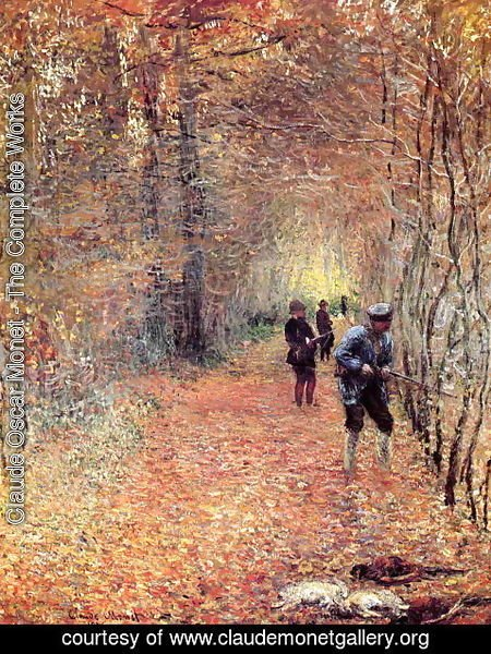 Claude Oscar Monet - Hunting Aka The Shoot