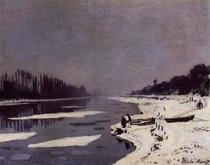 Claude Oscar Monet - Ice Floes On The Saine At Bougival